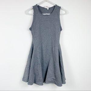 Francesca's gray dress small fit flare sleeveless